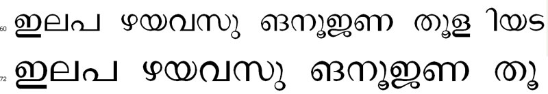 Chowara Malayalam Font