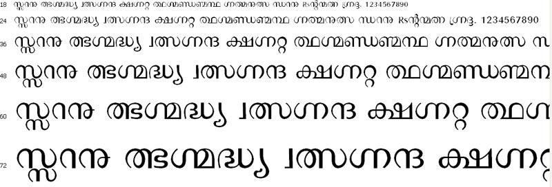 Manorama Malayalam Font