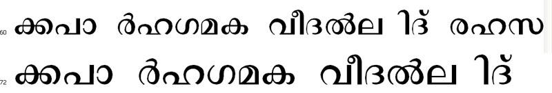 Vidya-Bold Malayalam Font