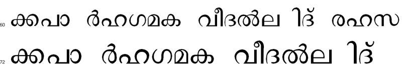 Vidya Normal Malayalam Font