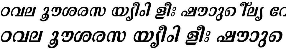 FML-TTAathira Bold Italic Malayalam Font