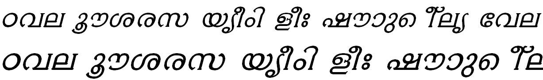 ML_TT_Ambili Bold Italic Malayalam Font
