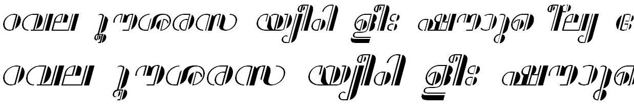 ML_TT_Aparna Bold Italic Malayalam Font