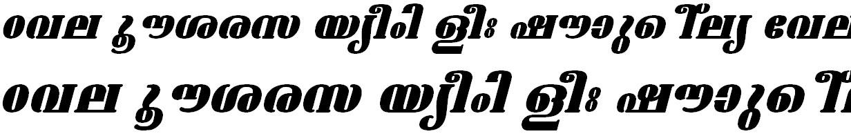 ML_TT_Ashtamudi ExBold Italic Bangla Font