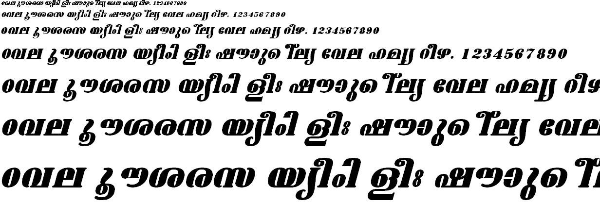 ML_TT_Ashtamudi ExBold Italic Malayalam Font