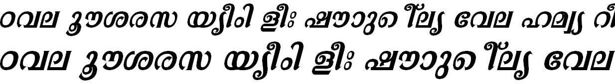 ML_TT_Athira Bold Italic Bangla Font