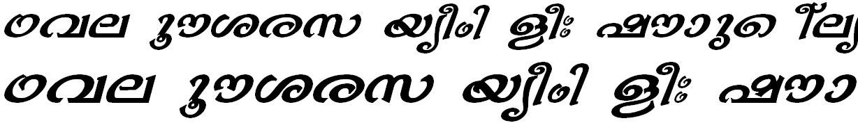 ML_TT_Bhavana Bold Italic Malayalam Font