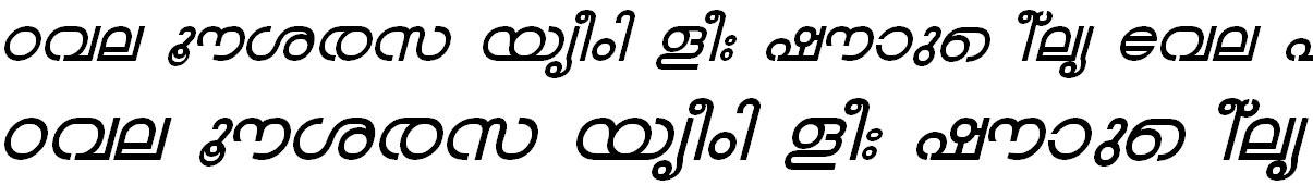 ML_TT_Chandrika Bold Italic Bangla Font