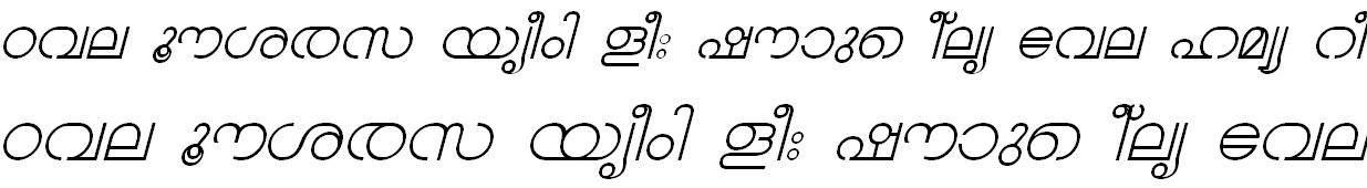 ML_TT_Chandrika Italic Bangla Font