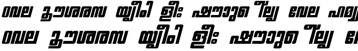 ML_TT_Chithira Heavy Bold Italic Malayalam Font