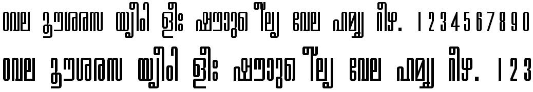 ML_TT_Chithira Normal Bangla Font