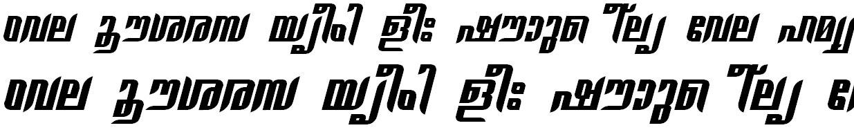 ML_TT_Gauri Hevy Italic Malayalam Font