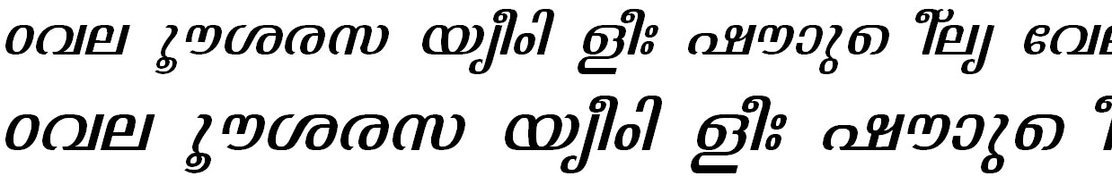ML_TT_Jyothy Italic Bangla Font