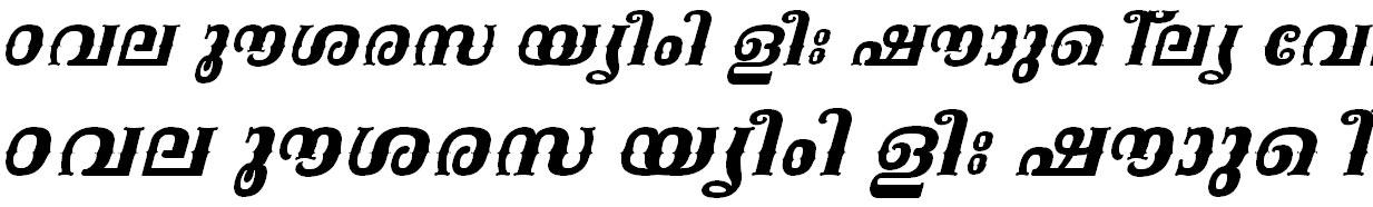 ML_TT_Kala Bold Italic Malayalam Font