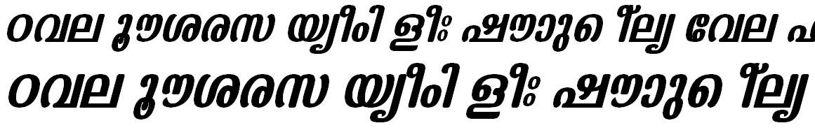 ML_TT_Kaumudi Bold Italic Bangla Font