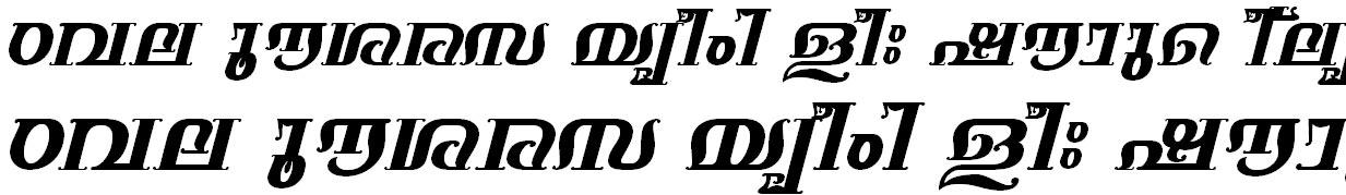 ML_TT_Keerthi Bold Italic Bangla Font