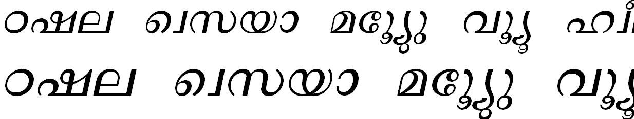 ML_TT_Lalit Bold Italic Malayalam Font