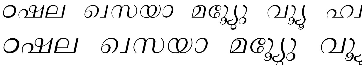ML_TT_Lalit Italic Bangla Font