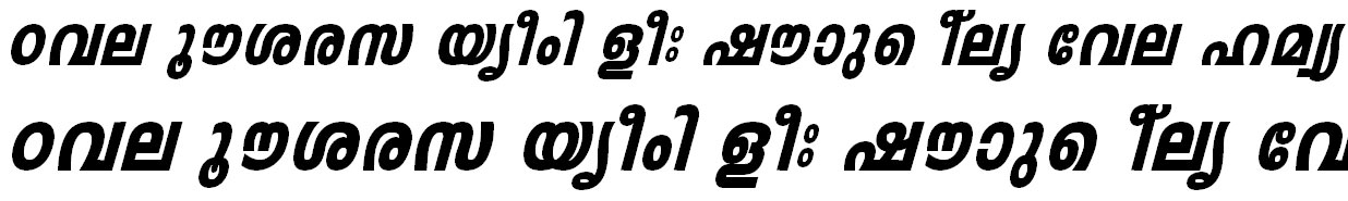 ML_TT_Leela Heavy Italic Bangla Font