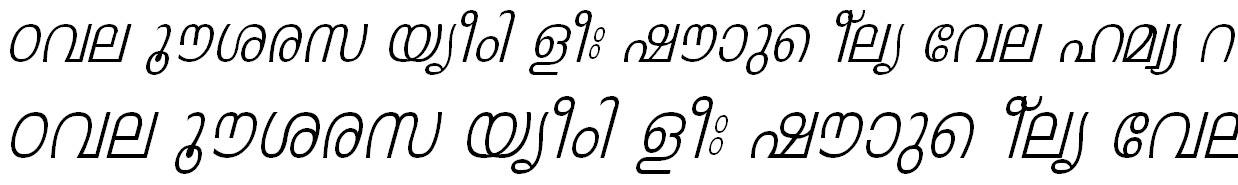 ML_TT_Leela Italic Malayalam Font