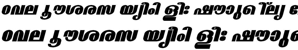 ML_TT_Madhavi ExBold Italic Malayalam Font