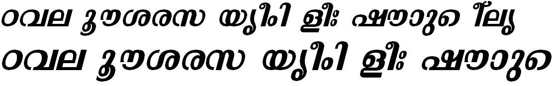 ML_TT_Malavika Bold Italic Bangla Font