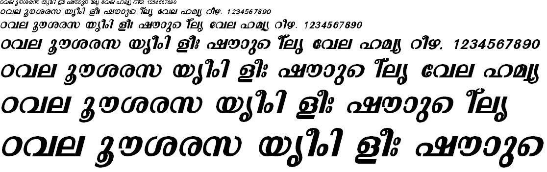ML_TT_Malavika Bold Italic Malayalam Font