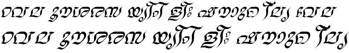 ML_TT_Nalini Italic Bangla Font