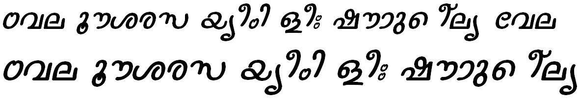 ML_TT_Nanditha Italic Bangla Font