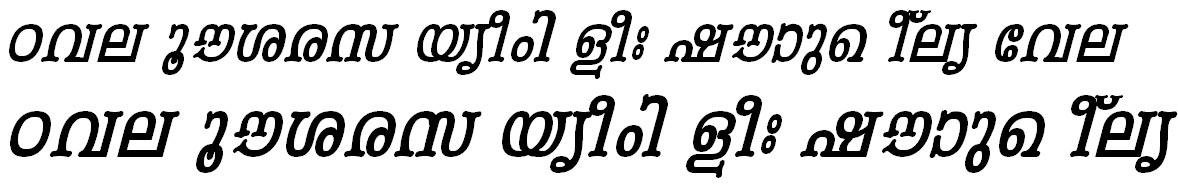 ML_TT_Periyar Bold Italic Malayalam Font