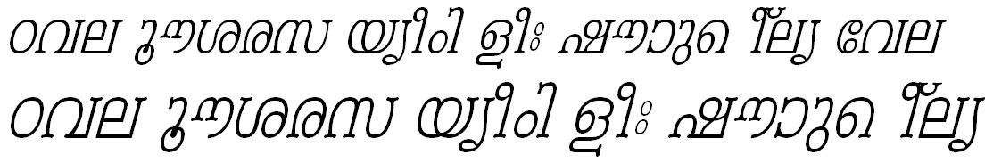ML_TT_Periyar Italic Malayalam Font