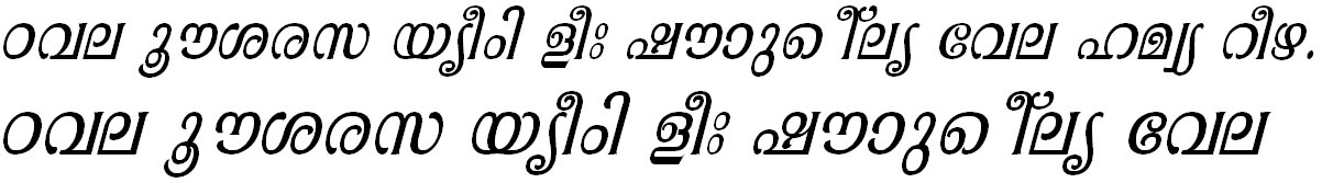 ML_TT_Pooram Italic Bangla Font