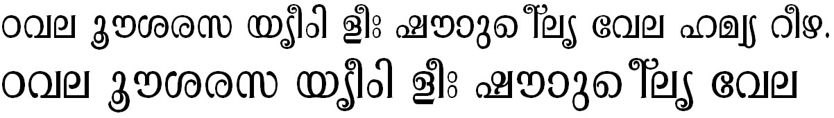 ML_TT_Pooram Normal Bangla Font