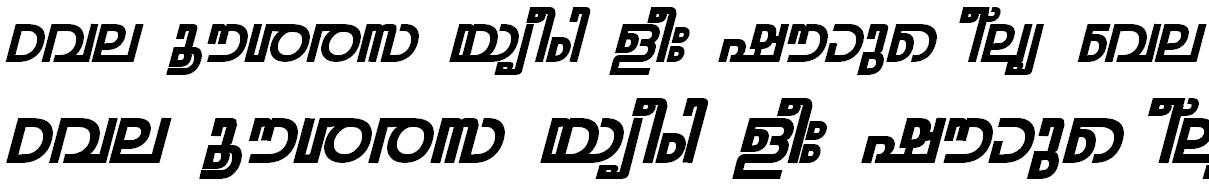ML_TT_Rohini Bold Italic Bangla Font