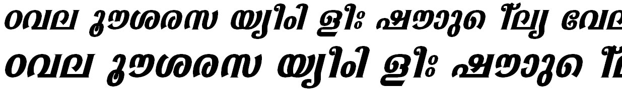 ML_TT_Sabari Bold Italic Bangla Font