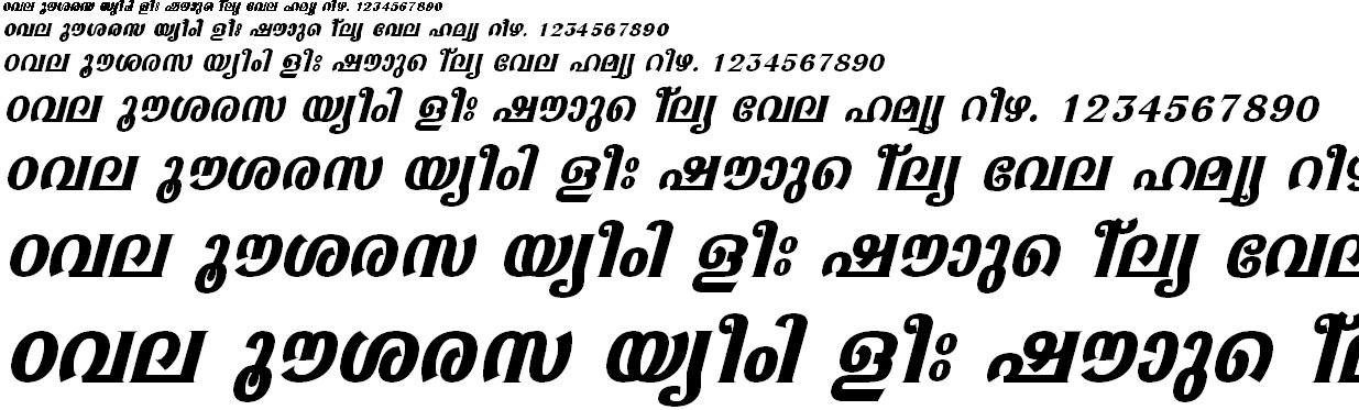 ML_TT_Sabari Bold Italic Malayalam Font