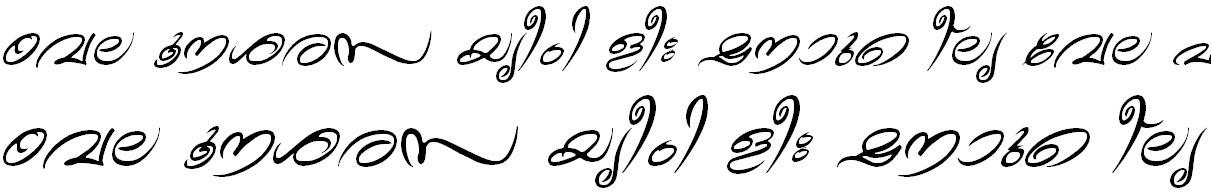 ML_TT_Theyyam Italic Bangla Font