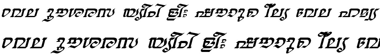 ML_TT_Thiruvathira Italic Bangla Font