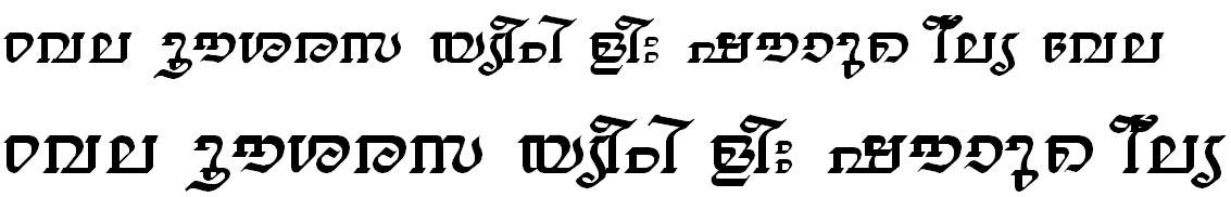 ML_TT_Thiruvathira Normal Malayalam Font