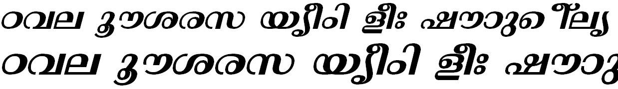 ML_TT_Thunchan Bold Italic Bangla Font