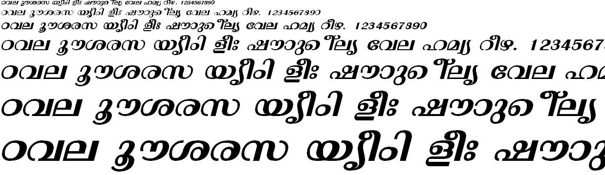 ML_TT_Thunchan Bold Italic Malayalam Font