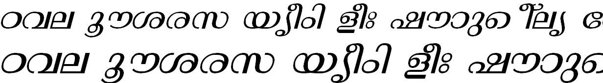 ML_TT_Thunchan Italic Malayalam Font