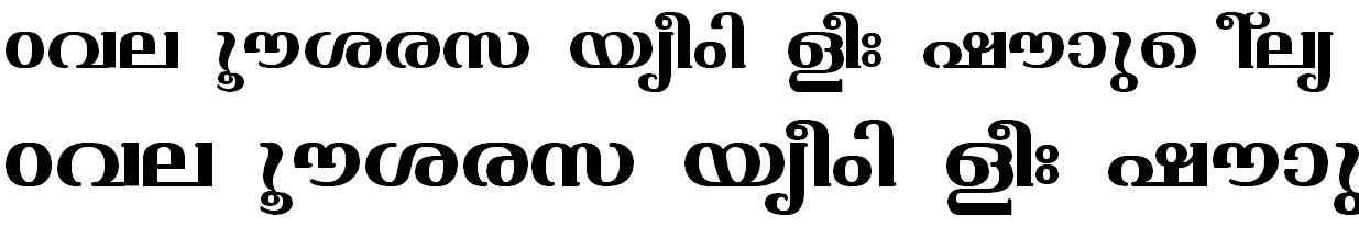 ML_TT_Varsha Bold Malayalam Font