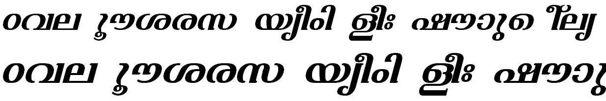 ML_TT_Varsha Bold Italic Malayalam Font