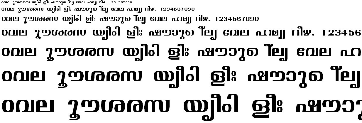 Download FML Malayalam Fonts to Type in Photoshop