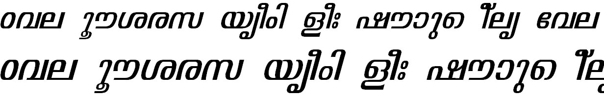 ML_TT_Visakham Italic Bangla Font