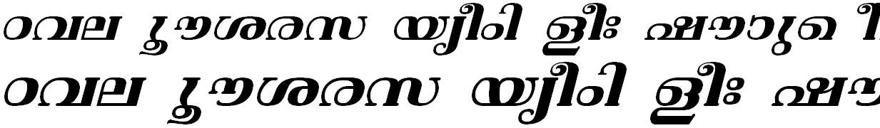 ML_TT_Vishu Bold Italic Malayalam Font
