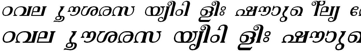 ML_TT_Vishu Italic Bangla Font