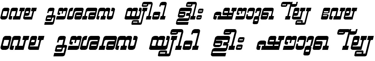 ML_TT_Yashasri Bold Italic Bangla Font