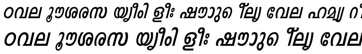 FML-Indulekha Bold Italic Bangla Font